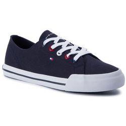 688549eeb5003 Tenisówki TOMMY HILFIGER - Tommy Essential Sneaker FW0FW04139 Midnight 403.  eobuwie.pl