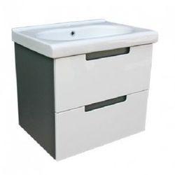 DEFTRANS PROVO Zestaw łazienkowy szafka + umywalka 60, biały połysk