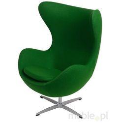 Fotel Jajo zielony kaszmir