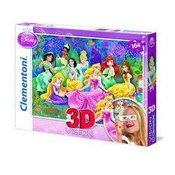 Puzzle 104 3D Vision Disney Księżniczki