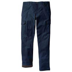 Spodnie bojówki ocieplane Regular Fit Straight bonprix ciemnoniebieski