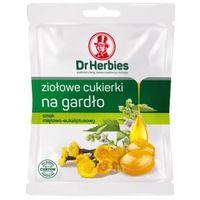 Dr Herbies ziołowe cukierki na gardło, smak miętowo-euakaliptusowy 70g