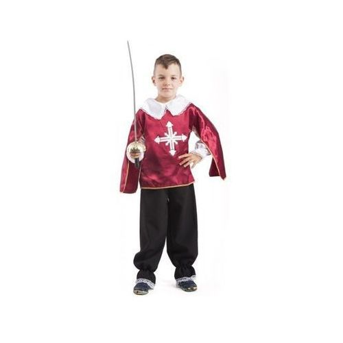 59dd3727b01b1e Muszkieter bordowy kostium i przebranie dla dzieci - 122 cm ...