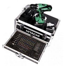 HITACHI Wiertarko-wkrętarka akumulatorowa 18V 2x1,5Ah (DS18DJL WK) W zestawie walizka z zestawem 100szt. narzędzi