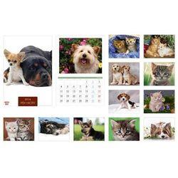 Kalendarz 2016 13 planszowy A3 Psy i Koty