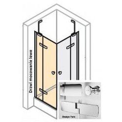 Drzwi do ścianki bocznej LEWE Huppe Enjoy PURE 120 cm, montaż na brodziku, chrom eloxal, szkło przeźroczyste z Anti-Plaque 4T0205.092.322