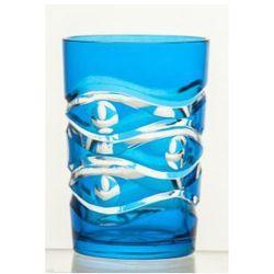 Szklanki kolorowe kryształowe do kawy 6 sztuk 6217