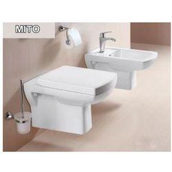 MITO Miska WC wisząca + deska duroplast wolnoopadająca