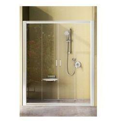 Drzwi prysznicowe NRDP4 Ravak Rapier 170 cm, białe + grape 0ONV0100ZG