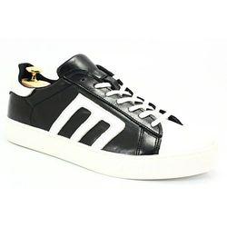 e4cad6b44 KENT 293M CZARNY-BIAŁY - Skórzane buty sportowe - Biały ||Czarny WYPRZEDAŻ -