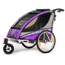 Qeridoo przyczepka rowerowa Sportrex 1 violet model 2016 - Gwarancja terminu lub 50 zł! - Bezpłatny odbiór osobisty: Wrocław, Warszawa, Katowice, Kraków