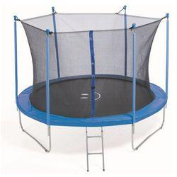 PLATINIUM 244 cm - Zestaw trampoliny z siatką zabezpieczającą - Niebieski