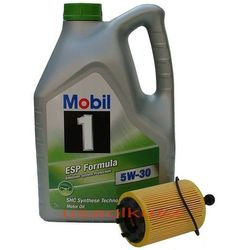 Filtr + olej Mobil 1 ESP Formula 5W30 Dodge Avenger 2,0TD