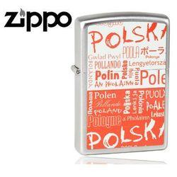 Zapalniczka Zippo Polska, napisy, Satin Chrome