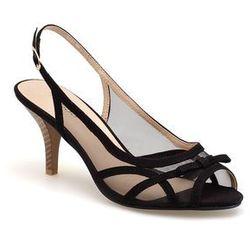 Sandałki na obcasie z siateczką
