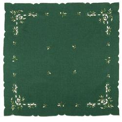 Forbyt Obrus świąteczny jemioła, zielony, 85 x 85 cm