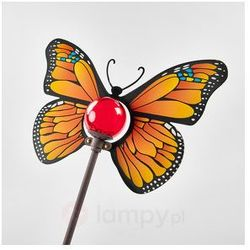 Żółta lampa solarna LED Motyl