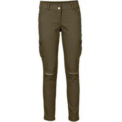Spodnie bojówki bonprix ciemnooliwkowy