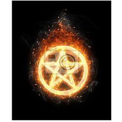 Plakat Pożar Pentagram