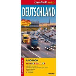 Deutschland - Niemcy mapa samochodowa laminowana