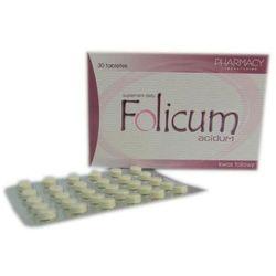FOLICUM ACIDUM 30 tabletek