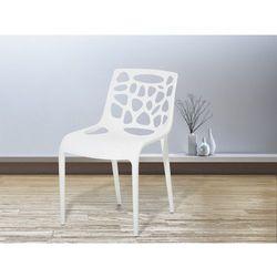 Krzeslo ogrodowe - plastikowe biale - krzeslo z tworzywa sztucznego - MORGAN