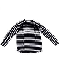 koszulka REELL - Striped Longsleeve Black & Off-White (BLACK & OFF-WHITE)