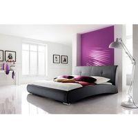 VERONA łóżko 120 cm tapicerowane czarne - czarny