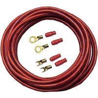 Zestaw kabli zasilających Sinuslive BK-10P, 10 mm2, czerwony, 5 m