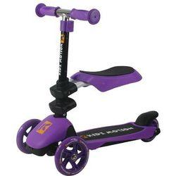Kidz Motion, 3in1 Motion, hulajnoga wielofunkcyjna, fioletowa Darmowa dostawa do sklepów SMYK