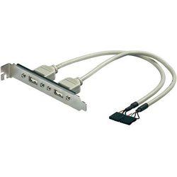 Gniazdo 2 x USB 2.0 na śledziu do obudowy komputera, złącze 2 x 5-biegunowe