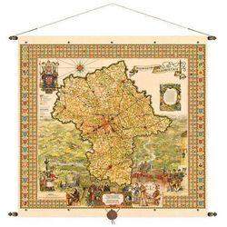 Województwo mazowieckie mapa ścienna 97x92 cm Pergamena
