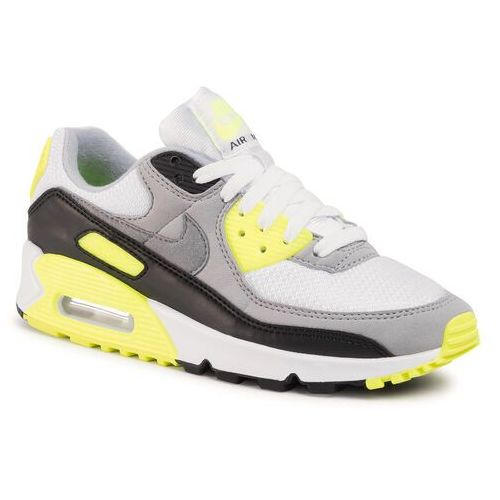 Buty NIKE - Air Max 90 CD0490 101 White/Particle Grey/Volt/Black