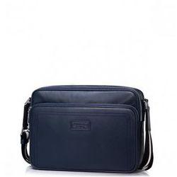 Męska torba biznesowa z naturalnej skóry Niebieska