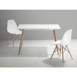 Stół do kuchni, jadalni lub salonu - biały - 120x80 cm - FLY