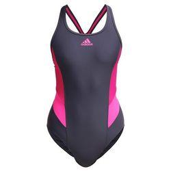 adidas Performance Kostium kąpielowy utility black/ bold pink/shock pink
