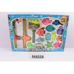 Gra łowienie 2 wędki 28 cm. + podbierak + rybki