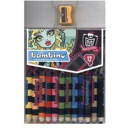 Kredki Bambino 12 kolorów Monster High + temperówka