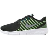Nike Performance FREE RN COMMUTER Obuwie do biegania neutralne black/metallic silver/electric green