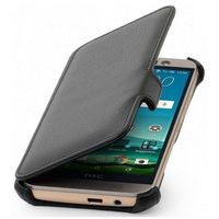 Oryginalne etui Stilgut - UltraSlim V2 - Book Case - HTC One M9 - Karbowana skóra ekologiczna - Czarne