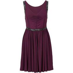 Sukienka z ćwiekami bonprix jeżynowy