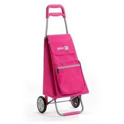 Torba na zakupy z kółkami Argo różowa,