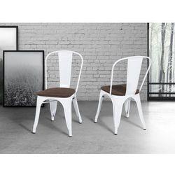Krzeslo biale – drewno – do jadalni - kuchenne - APOLLO