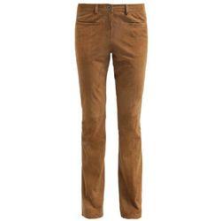 Oakwood Spodnie skórzane tan