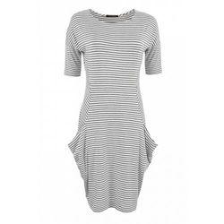 Sukienka w paski (Kolor: wielobarwny, Rozmiar: 42)