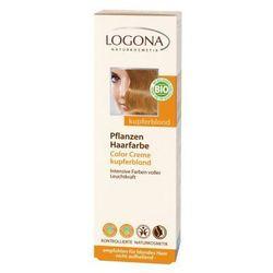 Roślinna farba do włosów w kremie - miedziany blond - 150 ml - Logona
