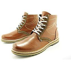 KENT 236 BRĄZ - Zimowe buty męskie z wełnianym ociepleniem