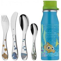 WMF Sztućce dla Dzieci - Zestaw 4 El. + Butelka Nemo