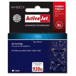 Tusz AH-920CCX Cyan do drukarek HP ( Zamiennik HP 920XL / CD972AE) [12 ml]