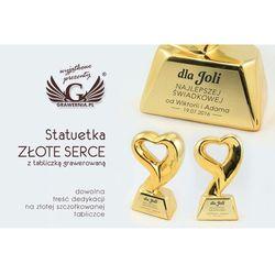 Statuetka Złote Serce - atrakcyjna figurka odlewana - wysokość 18 cm